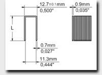 10 J Series Fine Wire Staples