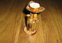 Designer Bamboo Candle Stands