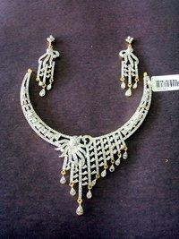 American Diamond Copper Necklace Sets