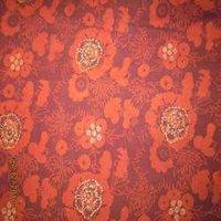 Red Floral Bagru Kalamkari Print Fabrics