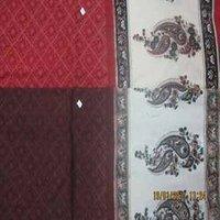 Large Floral Border Bagru Print Fabrics