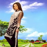 Net Salwar Kameez With Dupatta