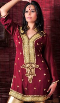 Georgette Heavy Embroidered Tunic Tops