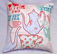 Patchwork Tea Theme Cushion Covers