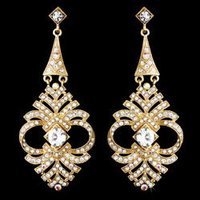 Bridal Gold Earrings