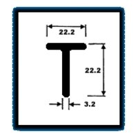 T Series Sections (1.025 Kg/M)