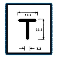 T Series Sections (0.950 Kg/M)