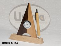 Wooden Pen Stand Witch Watch