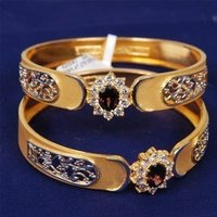 Gold Bangles With Stone