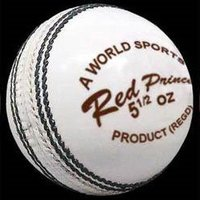 Red Prince White Cricket Balls