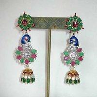 Peacock Type Earring