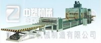 PE Plastic Hollow Cross Section Plate Extrusion Line