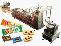 Biscuit Sandwiching Machine And Pillow Packing Line