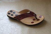 Ladies Simple Flat Sandal Art-606 Red