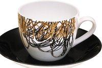 Classic Ceramic Cup Saucer