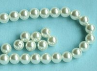 10mm Perforated Round Imitation Pearl