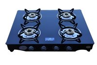 4 Burner Black Gas Stove