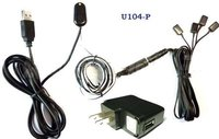 IR Extender with 1 Receiver And 4 Emitters ( for 4 AV Devices ) And USB 5V Adaptor U104-P
