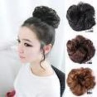 Korean Style Blonde Human Hair Bun Piece