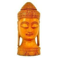 Wooden Head Buddha Idols