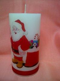 Santa Christmas Candle