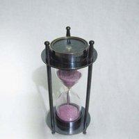 Brass Compass Sand Timer Hourglass 1 Minute