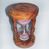 Decorative Wood Sand Timer Hour Glass 10-Minutes