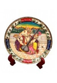 Ganesha Painting Marble Plate