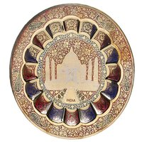 Brass Wall Hanging Plates (Taj Mahal)