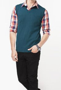 Men'S Half Sleeve Sweater