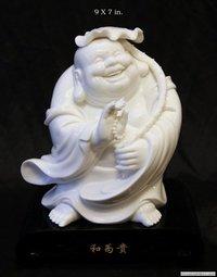 Porcelain Laughing Buddha Idol