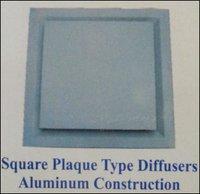 Square Plaque Type Diffusers (Aluminum Construction)