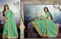 plain wedding  saree