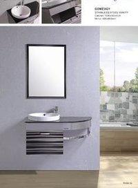 designer ss bathroom vanity cabinet in kolkata