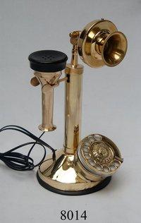 Brass Gandhi Style Antique Desk Telephone