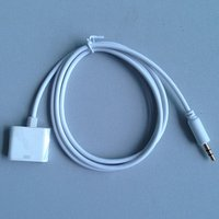 Dc 3.5mm To 30 Pin Aux Audio Cable