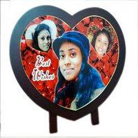 Wooden Heart Photo Frames
