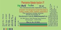 Pheniramine Maleate Injection