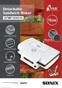 Sonix Detachable Sandwich Maker