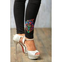 Embroidered Cotton Leggings