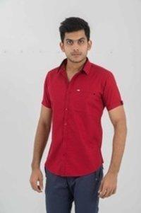 Men Designer Half Sleeve Shirt
