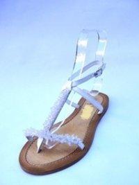 White Beaded Sandals