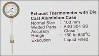 Industrial Exhaust Thermometer With Die Cast Aluminium Case