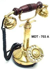 Brass Candle Maharaja Telephone