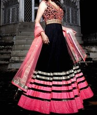 Black Long Anarkali Suit