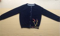 100% Baby Cashmere Cardigan With Button