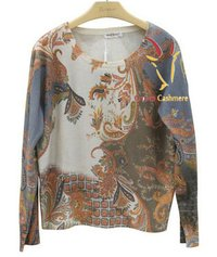 Printing Cashmere Sweater CF-3020