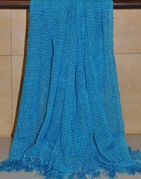 Blue Color Designer Acrylic Throws