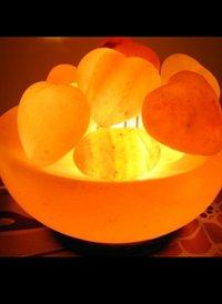 Bowl With Heart Salt lamp