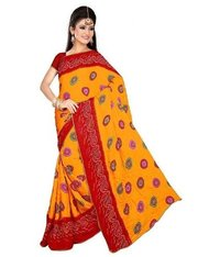 Lovit Fashion Chiffon Printed Bandhani Sarees